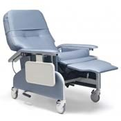 Photo of a Clinical Care Recliner in reclined position