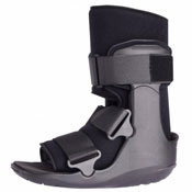 Photo of Black Walker Boot for use to support and comfort to the ankle or foot following surgery | Click to shop NewLeaf's complete line of orthopedic supplies