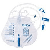 Photo of a plastic Bedside Urine Drainage Collection Bag | Click to shop NewLeaf's complete line of urological products and supplies to assist with catheter use.