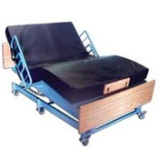 Photo of a Bariatric hospital bed | Click the link to shop products for bariatric users