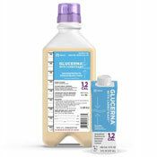 Photo of large 1.1 quart ready to hang and 8 oz bottle of Glucerna 1.2 cal supplement forumula | Click to shop all nutritional supplements and feeding tube products
